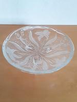Üveg kínáló,asztalközép,liliomok között táncoló tündérek