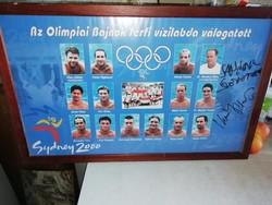 Az Olimpiai bajnok férfi vízilabda válogatott Sydney 2000 aláírt keretezve