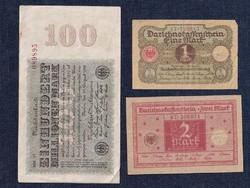 3 db német márka/id 6351/