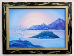 David Beeri (Beri Károly 1951-) - Boldog fa (2008) 100x120cm; olaj, vászon