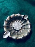 Antik Szent István 5 Pengő 1938 Ezüst Hamutartó
