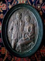 Kutas László 26x20 cm bronz relief  jó állapotban