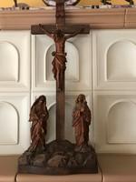 Faragott fa korpusz házi oltár
