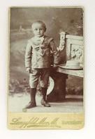 0V195 Antik LANGSFELD MOR. M. gyermek fotográfia
