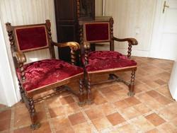 Antik koloniál fotel párban/áresés!