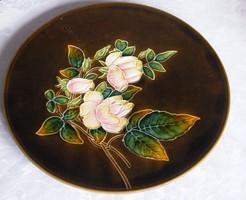 Schütz Cilli virágos nagyméretű fali tál,, falitányér!33,5 cm