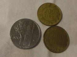 Olasz pénz - érme, 100 és 200 líra (lire, 1979)