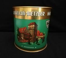 Régi szép német kekszes pléh doboz