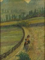 0V357 Ismeretlen festő : Vándorok