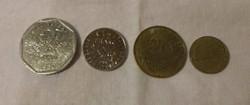 Francia pénz - érme (franc / frank és centimes, 1980-as évek)