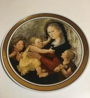 Hollóházi jelzett porcelán falitányér - Musée d Art sorozat