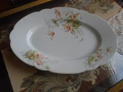 Antik,  kőporcelán ciklámenes tányér.