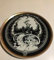 Hollóházi Jurcsák László tányér 24,5 cm