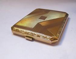 Kivételes állapotó Art Deco aranyozott ezüst cigarettatárca!