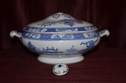 Angol porcelán tál pagoda díszítéssel ( hibás )  ( DBZ 005 )