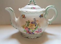 Zsolnay Barokk nagy  teás kiöntő , hibátlan