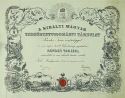 0V312 M.Kir. Természettudományi Társulat okl. 1916