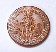 Zsigmond 500 év jubileumi emlékérem 1486-1986