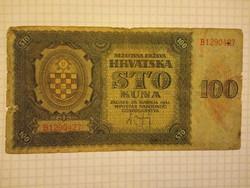 100 Kuna 1941 Horvátország  !!