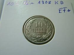 10 fillér 1908