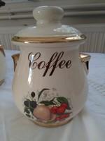 Angol fajansz kávé tartó