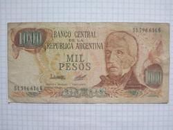 Argentína 1000  mil Peso 1973 - 1976  !! Ritka !