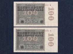 2 db német 100 millió márka 1923 sorszámközeli/id 6490/
