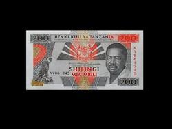 UNC - 200 SHILINGI - TANZÁNIA ---1993..Ritkaság!