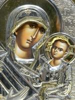 Olasz ikon Mária a kisdeddel.