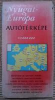 Nyugat-Európa autótérképe, 1976 (autós térkép)