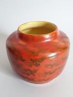Retro,vintage,jelzett,zsűrizett,iparművész narancssárga váza