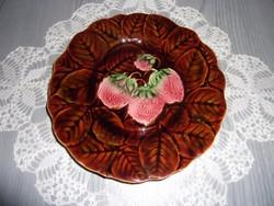 Epres majolika süteményes tányér