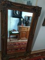 Díszes dekoratív Nagy méretű tükör, metszett széllel eladó