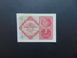 2 korona 1922 Szép ropogós bankjegy  01