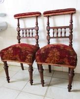Antik 140 éves ónémet székek párban! Eredeti huzattal!