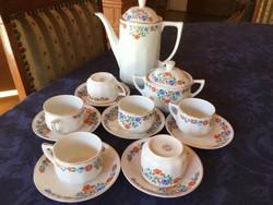 Gyönyörűséges Schlaggenwald Chodau kávés készlet, antik