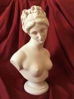 Vénusz Mellszobor (Fehér Márvány) - A szerelem Istennője - Afrodité Szobor - Női Akt Szobor