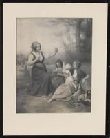 XIX. századi grafika: Beszélgetés a gyerekekkel