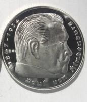 HINDENBURG, EZÜSTÖZÖTT HOROGKERESZTES EMLÉKÉREM,UP, PP! 1937