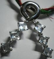 925 ezüst medál természetes akvamarinokkal