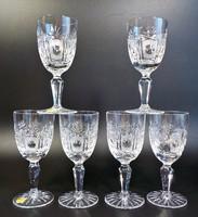 Pazar, csiszolt ólomkristály likőrös 6 darabos pohár készlet, címkés , sosem használt