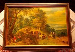 Jan Brueghal flamand festő képének nyomata.75 x 52 cm