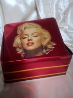 Retro, pléh doboz, Marilyn arcképével!