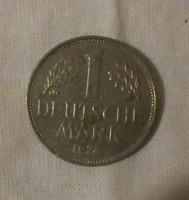 Német pénz - érme, 1 Deutsche Mark (NSZK, 1974)