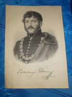 antik berzsenyi dánielt ábrázoló rézkarc  1859