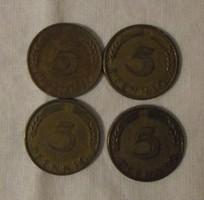 Német pénz - érme, 5 Pfennig (NSZK, 1950)