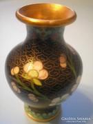 U7 Antik chínai  Rekesz zománc Díszítésű Váza ritkaság