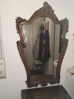 Fali tükör faragott keretben (neobarokk?)