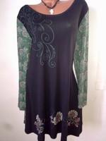 Márkás designer virágos indás tavaszi női ruha új címkés 48 XL mesés ... 08547720f1