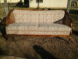 Gyönyörű chippendale neobarokk kanapé